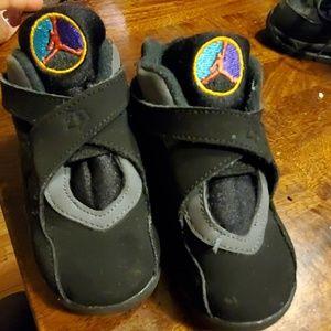 Boys jordan sneakers 7C toddler baby black